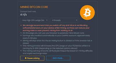 coinpot.co mining dashboard