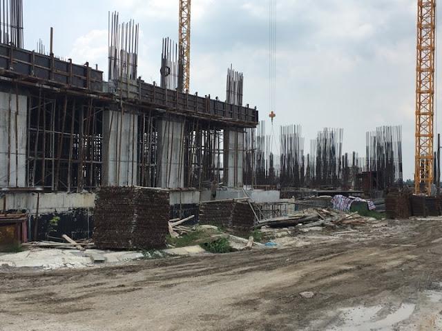 Tiến độ xây dựng chung cư Thanh Hà B1.3 tòa HH03C ngày 27/7/2017
