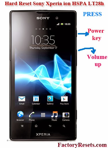 Hard Reset Sony Xperia ion HSPA LT28h