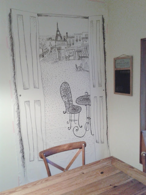 Paris sketch party backdrop