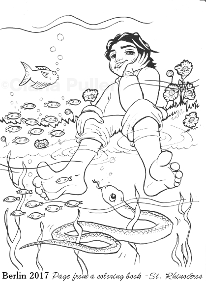 Page from a Chachapoyas coloring book by Ciana Pullen