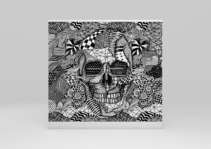Skull artwork printed cabinet