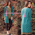 Lala Sana & Samia Embroidered Linen Plachi 2017