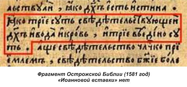 Острожская Библия: искажения нет