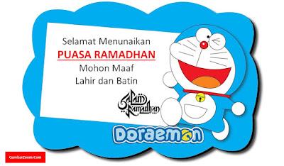 Gambar Doraemon Selamat Menunaikan Ibadah Puasa Ramadhan
