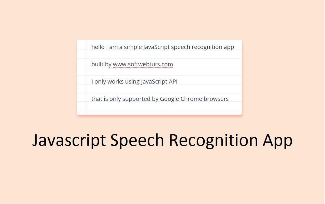 Javascript Speech Recognition App