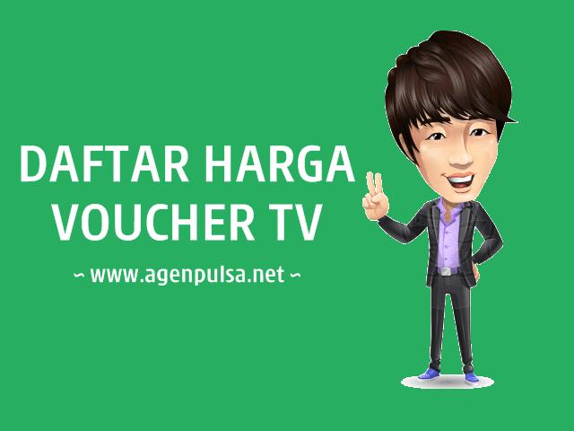 Daftar Harga Voucher TV Prabayar Murah AgenPulsa.net
