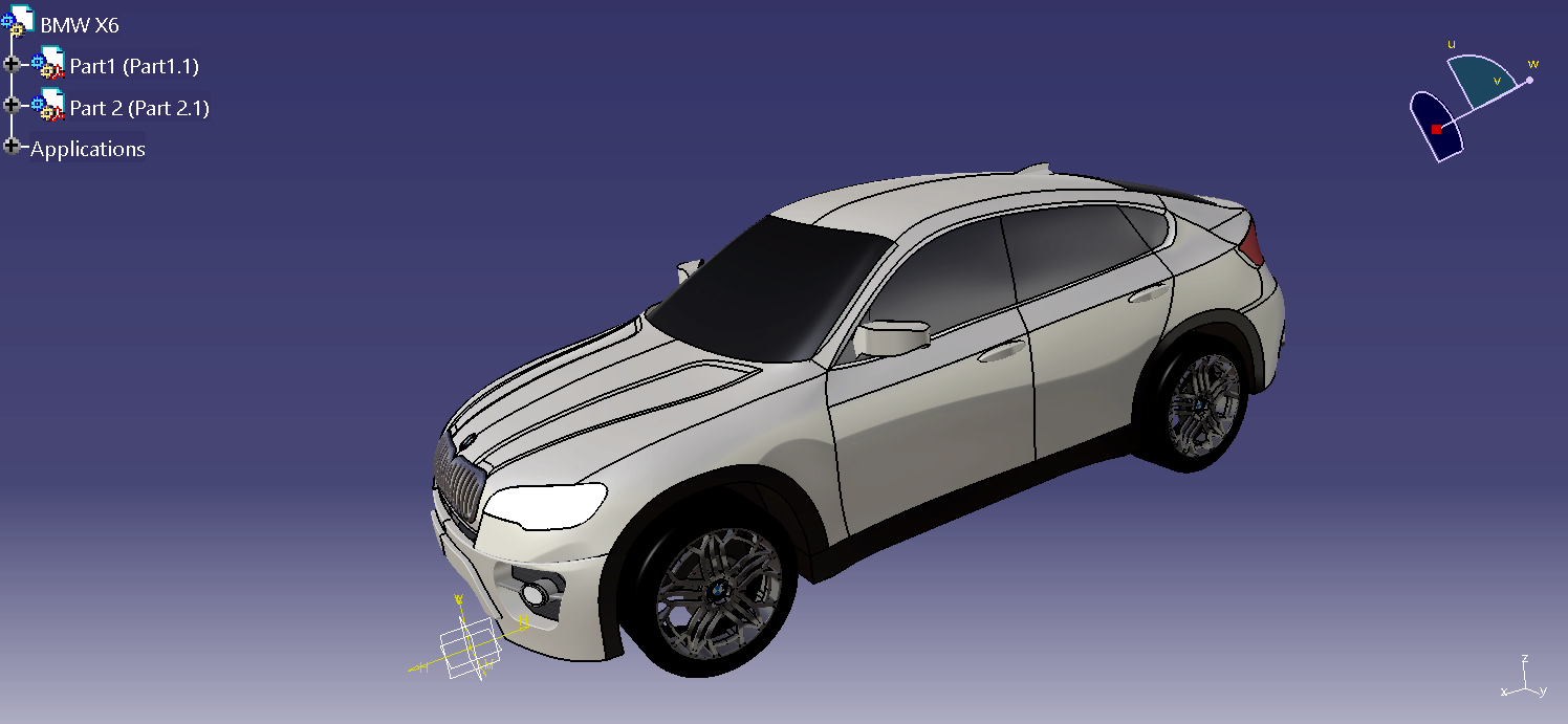 Make Your Own Projects Catia V5 R20 Bmw X6 Surface Modeling