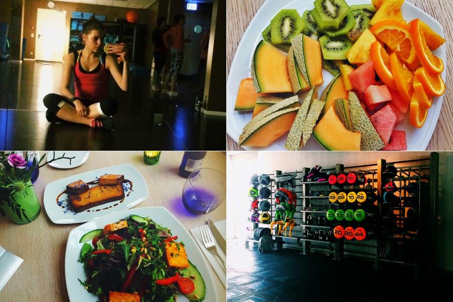 yoga myberlinfashion früchte vegan dinner essen