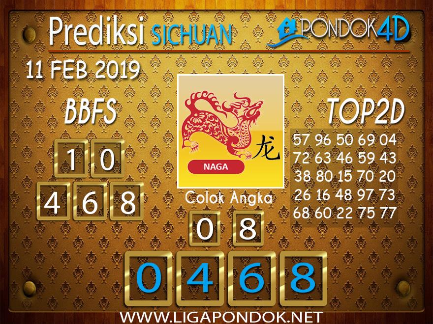 Prediksi Togel SICHUAN PONDOK4D 11 FEBRUARI 2019