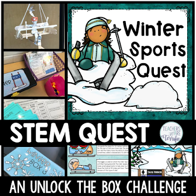 STEM Quest- It's an Unlock the Box event featuring Winter Sports and it includes a STEM Challenge!