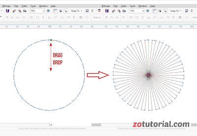 Membuat Efek Pancaran Sinar Dengan Polygon Tool | CorelDraw