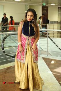 Telugu Actress Sri Reddy Mallidi Stills in White Beautiful Dress at Marriage Needs Bridal Fashion Week 2017 Logo Launch  0171.JPG