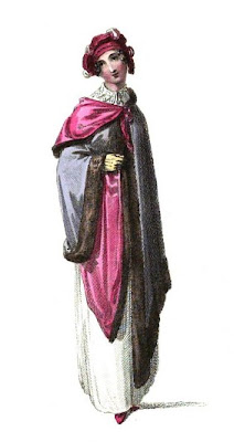 Promenade or carriage costume  from Ackermann's Repository  (Mar 1814)