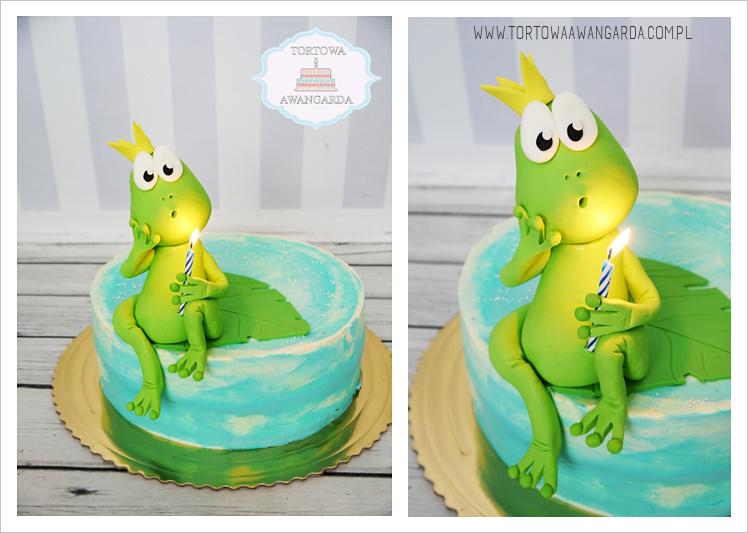 tort urodzinowy z żabą Warszawa  w kremie