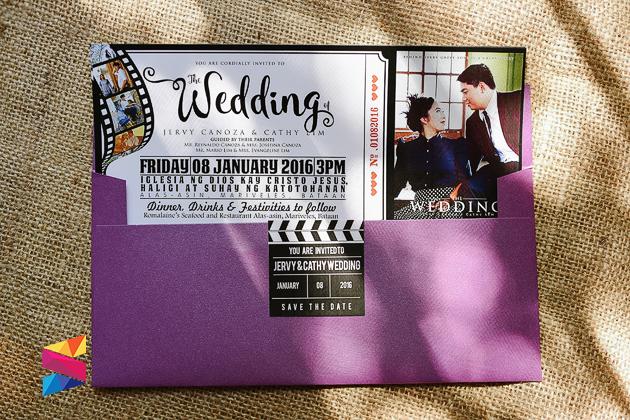 Jervy Cathy Movie Ticket Themed Wedding Invitation Stunro