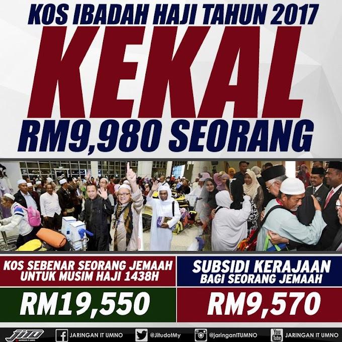 Kos Kerja Haji 2017 Kekal RM 9,980 @