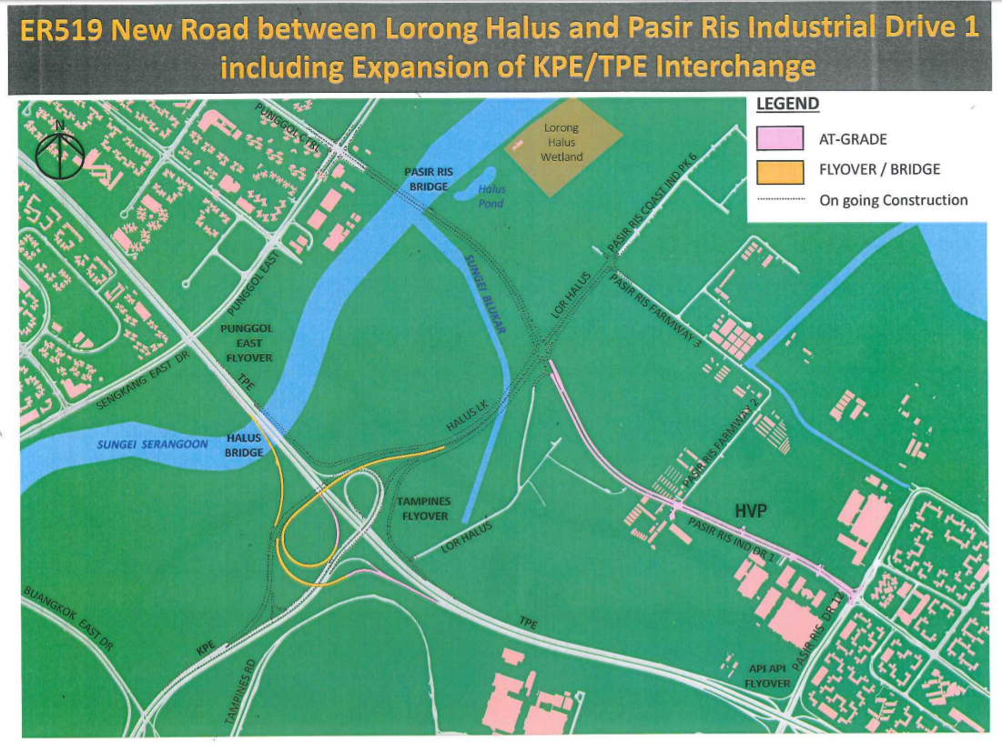 Part of a two-phase expansion of the KPE/TPE interchange, the new road will provide an alternative route from Punggol Central to the two expressways, said the Land Transport Authority (LTA) in a press release on Thursday (Nov 8).