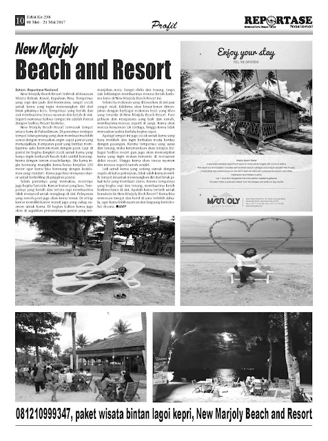 Visit Kepri Bintan New Marjoly Beach and Resort