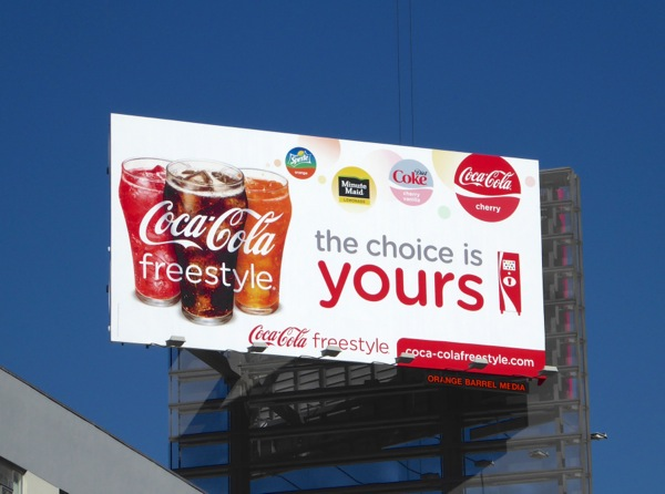 Coca Cola Freestyle Choice yours billboard
