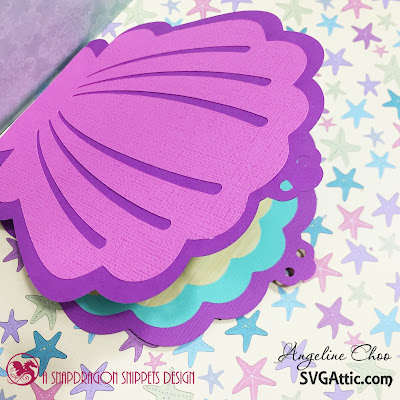 SVG Attic: Mermaid Step Card with Angeline #svgattic #scrappyscrappy #jgwfathomsdeep #mermaid #stepcard #underwater #svg #cutfile #diecut #card #cardmaking #papercraft