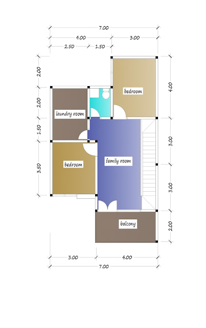 2nd floor plan of beautiful house plan 22