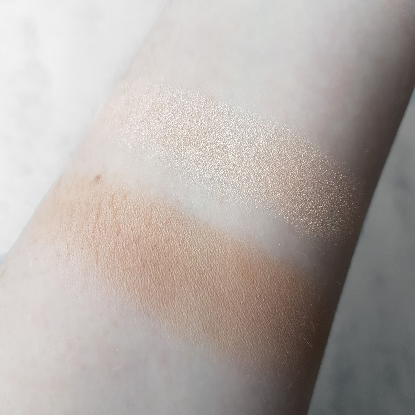 Swatches of Illamasqua Sculpting Powder Duo