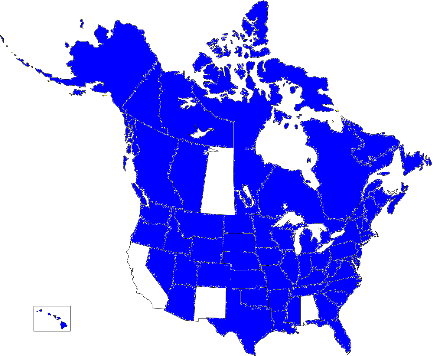 State And Provincial Flag Colors A Map Series - Map of us and canada with states and provinces