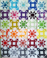 Dashing quilt churn dash sawtooth stars