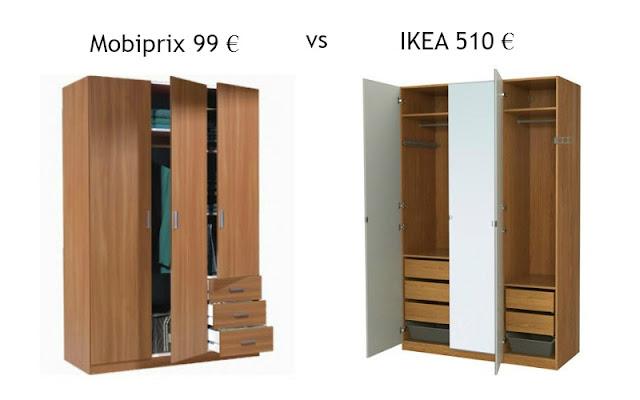 Ikea vs Mobiprix armario guardaropa