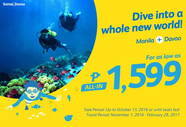 Cebu Pacific Promo Fare Manila to Davao