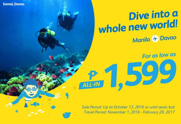 Cebu Pacific Promo Fare Manila to Davao