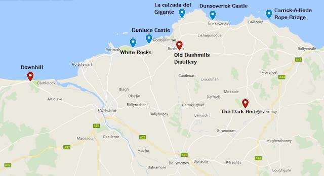 ruta antrim Irlanda del Norte