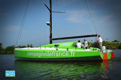 Campagne de France d'Halvard Mabire bientot prêt pour les navigations