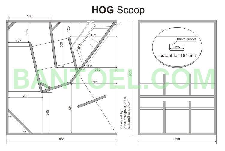 Skema box speaker Hog Scoop 18 Inch
