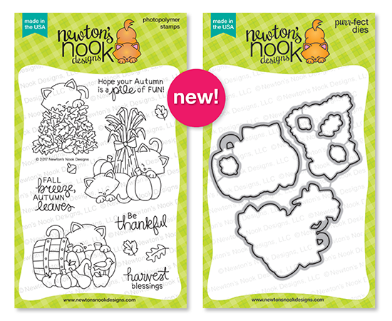 Autumn Newton | Photopolymer Stamp set & Die Set by Newton's Nook Designs #newtonsnook
