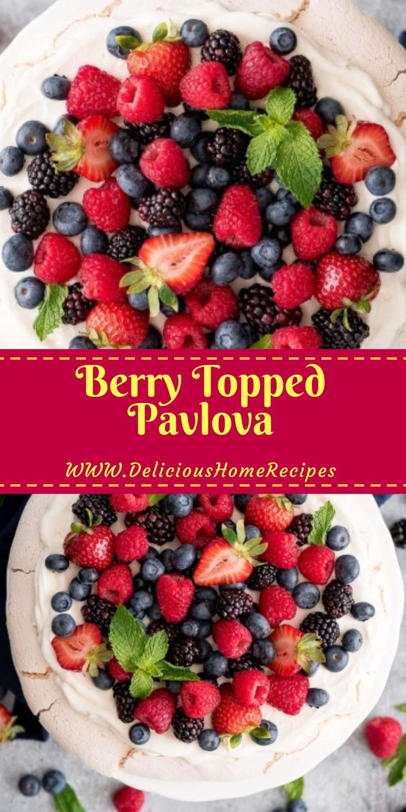 Berry Topped Pavlova