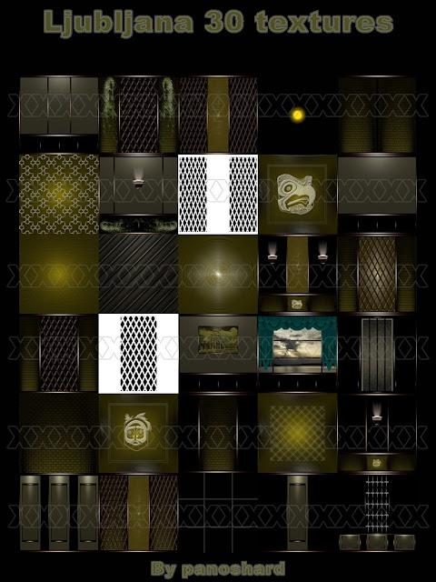 TEXTURES IMVU FOR SALE: Ljubljana 30 textures imvu room by panoshard
