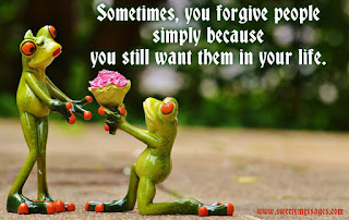 cool messages, forgiving people