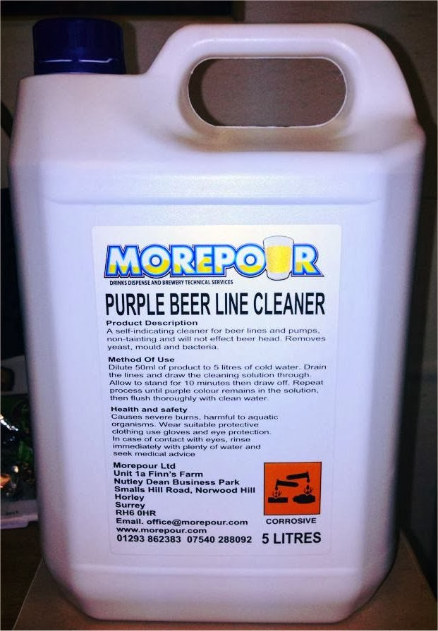 beer line cleaning fluid