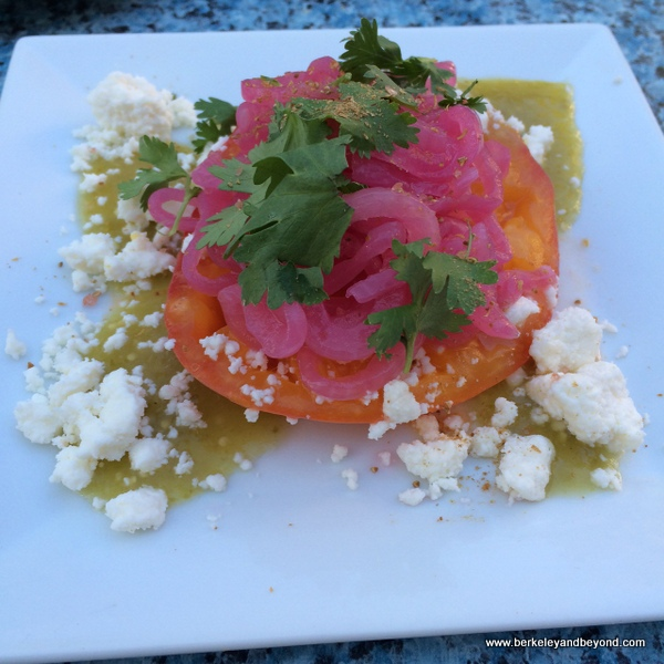 queso fresco salad at Benbow Historic Inn restaurant in Garberville, California