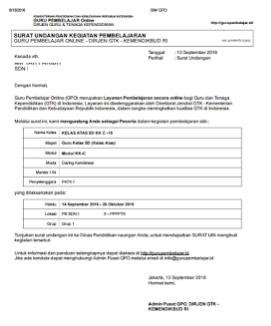 contoh undangan GP daring