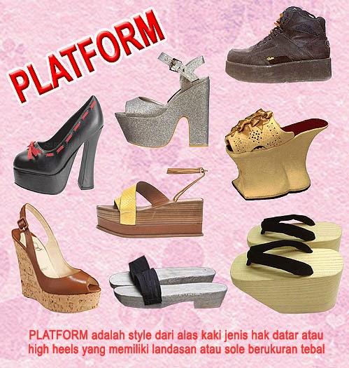 Sepatu Platform Atau Platform Shoes