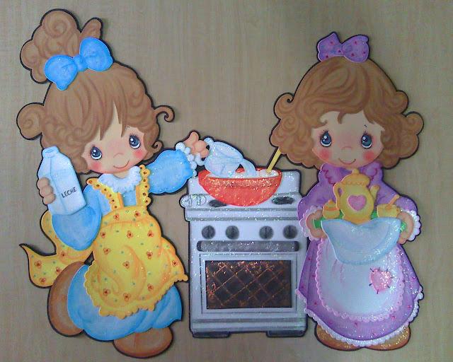 Amigas cocinando precious moments fomiart - Nina cocinando ...