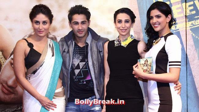 Kareena Kapoor, Armaan Jain, Karisma Kapoor and Deeksha Seth, Kareena, Karishma, Deeksha at Lekar Hum Deewana Dil Music Launch