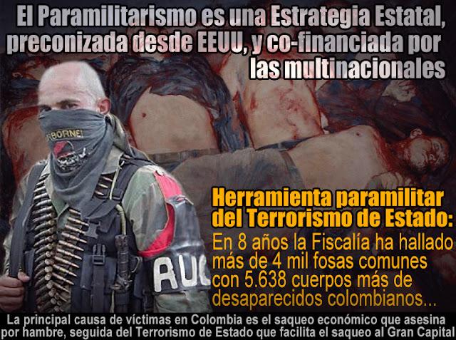 Resultado de imagen de colombia crimenes de estado y paramilitarismo