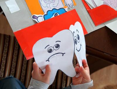 Szczęśliwy i smutny ząbek - zabawa