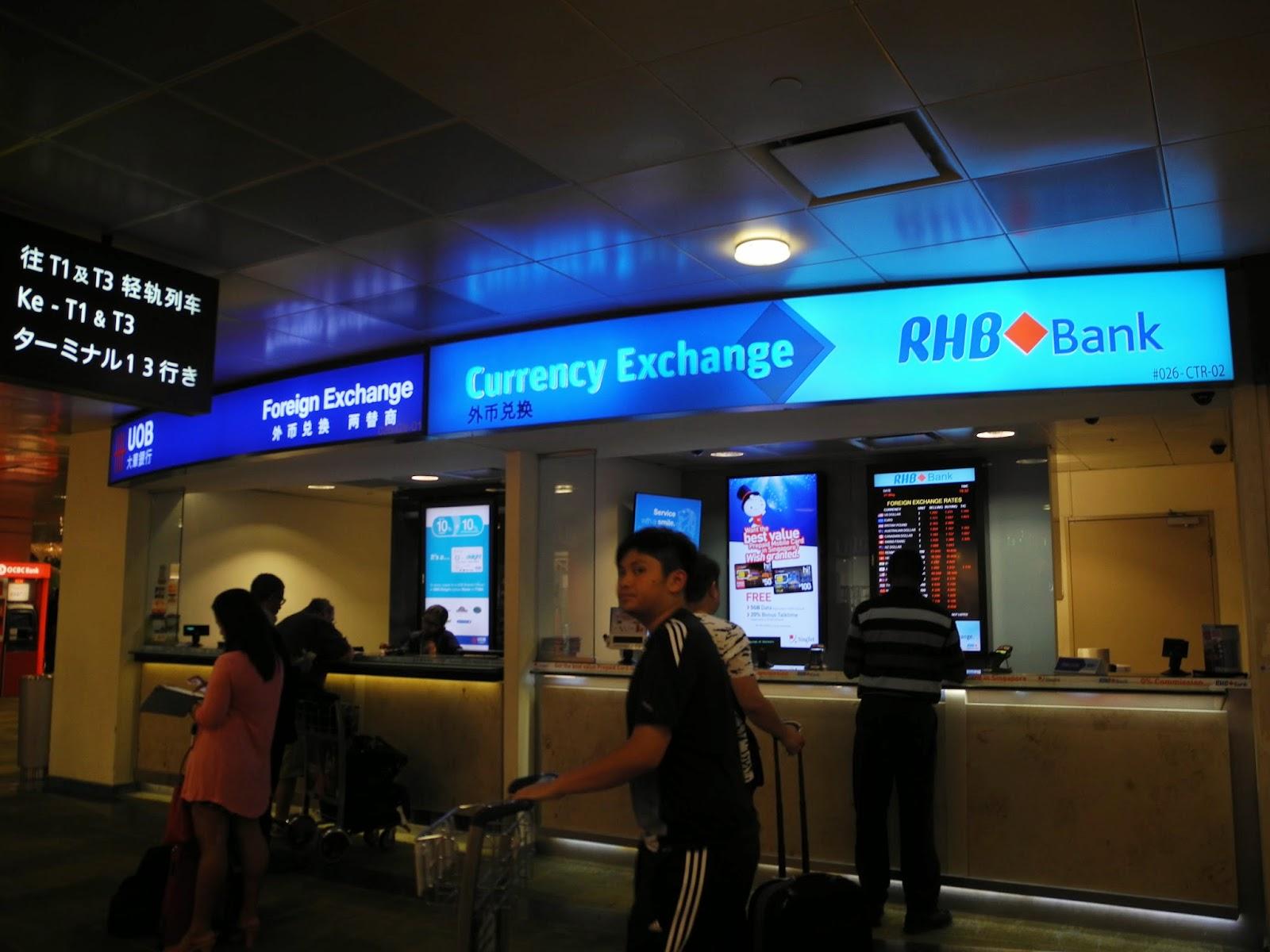 Singapore airport forex rates
