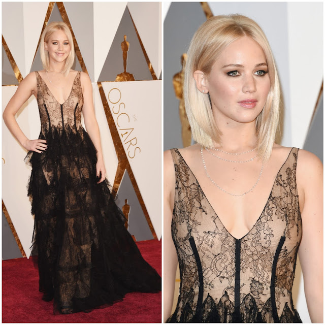 WHO WORE WHAT?.....88th Annual Academy Awards: Jennifer Lawrence in Christian Dior Haute Couture S/S 2016