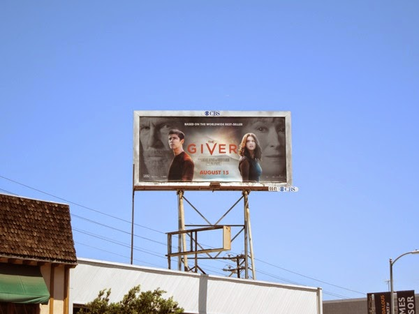 The Giver film billboard